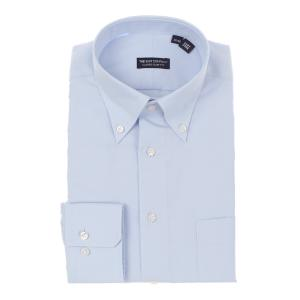 ドレスシャツ/長袖/メンズ/ボタンダウンカラードレスシャツ 無地 〔EC・CLASSIC SLIM-FIT〕 サックスブルー|uktsc