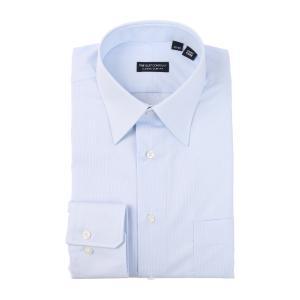 ドレスシャツ/長袖/メンズ/レギュラーカラードレスシャツ 織柄 〔EC・CLASSIC SLIM-FIT〕 サックスブルー|uktsc