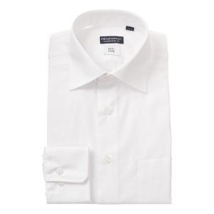 ドレスシャツ/長袖/メンズ/ワイドカラードレスシャツ シャドーストライプ 〔EC・CLASSIC SLIM-FIT〕 ホワイト|uktsc