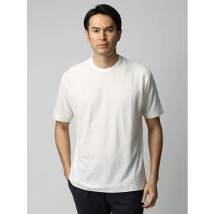 カットソー/メンズ/ETONNE/コットンリネン強撚 クルーネックTシャツ ホワイト uktsc