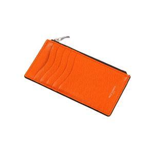 革小物/キーリング/グッズ/メンズ/PELLE MORBIDA/ミニウォレット オレンジ×ブラック uktsc