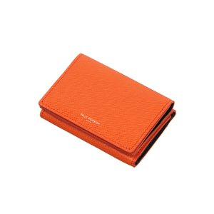 革小物/キーリング/グッズ/メンズ/PELLE MORBIDA/3つ折りウォレット オレンジ|uktsc