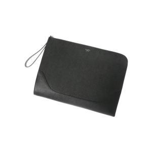 クラッチバッグ/メンズ/PELLE MORBIDA/型押しレザー クラッチバッグ ブラック uktsc