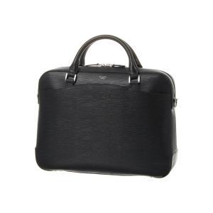 ブリーフケース/ビジネスバッグ/メンズ/PELLE MORBIDA/型押しレザー ブリーフケース ブラック|uktsc