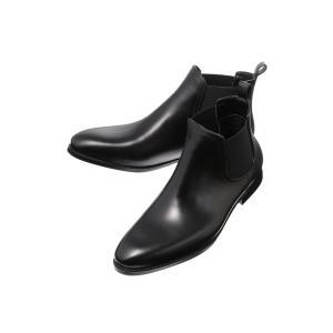 ブーツ/シューズ/メンズ/サイドゴアレインブーツ ブラック|uktsc