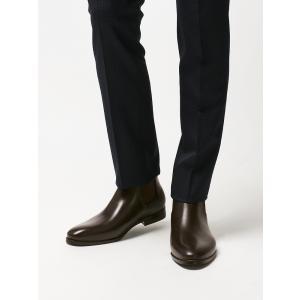 ブーツ/シューズ/メンズ/サイドゴアレインブーツ ダークブラウン|uktsc