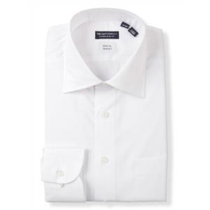 ドレスシャツ/長袖/メンズ/STRETCH COMFORT/ワイドカラードレスシャツ〔EC・CLASSIC SLIM-FIT〕 ホワイト|uktsc