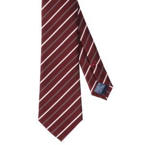 ネクタイ/レギュラータイ/メンズ/ストライプ柄ネクタイ レッド系 uktsc