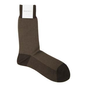 ソックス/靴下/ビジネス/メンズ/フリーサイズ/バイアスストライプ柄ソックス ブラウン×ライトブラウン|uktsc