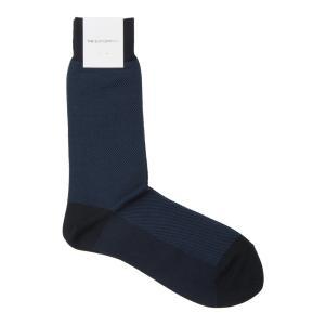 ソックス/靴下/ビジネス/メンズ/フリーサイズ/バイアスストライプ柄ソックス ネイビー×ブルー|uktsc