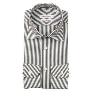 ドレスシャツ/長袖/メンズ/JAPAN FABRIC/HAND MADE/ワイドカラードレスシャツ ...