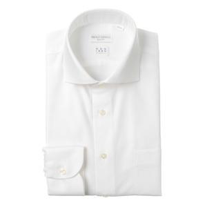 ドレスシャツ/長袖/メンズ/NON IRON STRETCH/ホリゾンタルカラードレスシャツ 〔EC・SLIM FIT〕 ホワイト