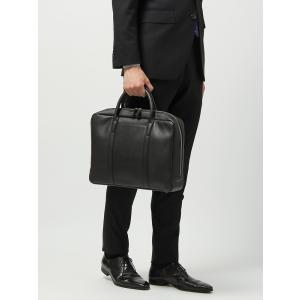 ブリーフケース/ビジネスバッグ/メンズ/ステアレザー ブリーフケース ブラック|uktsc