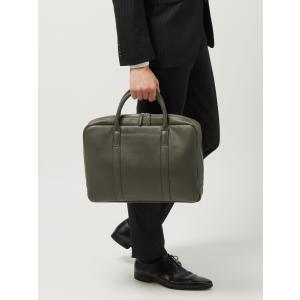 ブリーフケース/ビジネスバッグ/メンズ/ステアレザー ブリーフケース グレー|uktsc