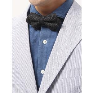 剣先が三角に尖っているのが特徴のポインテッド型蝶ネクタイ。日本縫製で仕上げたこだわりの逸品です。華や...
