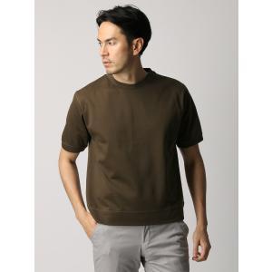 カットソー/メンズ/ETONNE/コットン鹿の子クルーネックTシャツ ブラウン|uktsc