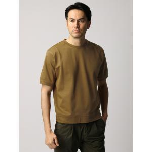 カットソー/メンズ/ETONNE/コットン鹿の子クルーネックTシャツ ライトブラウン|uktsc