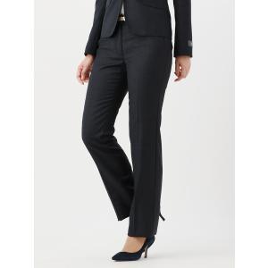 スーツ/レディース/セットアップ/通年/SUPER110'sウール ハウンドトゥース柄ブーツカットパンツ/Fabric by REDA/ ネイビー×ブラック uktsc