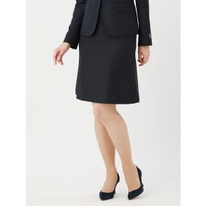 スーツ/レディース/セットアップ/通年/SUPER110'sウール ハウンドトゥース柄フレアスカート/Fabric by REDA/ ネイビー×ブラック uktsc