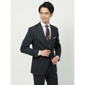 ビジネスジャケット/メンズ/秋冬/WE SUIT YOU/ヘリンボーン柄ジャケット ネイビー