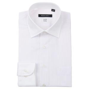 ドレスシャツ/長袖/メンズ/SUPER EASY CARE/クレリック&ワイドカラードレスシャツ 〔EC・BASIC〕 ホワイト×パープル|uktsc