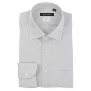 ドレスシャツ/長袖/メンズ/SUPER EASY CARE/ワイドカラードレスシャツ 織柄 〔EC・BASIC〕 ライトグレー|uktsc