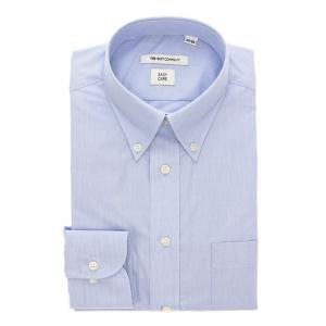 ボタンダウンカラードレスシャツ ストライプ 〔EC・SLIM FIT〕/ブルー×ホワイト(色柄コード:BB)|ザ・スーツカンパニーPayPayモール店
