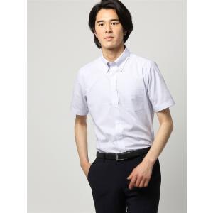 ドレスシャツ/半袖/メンズ/半袖/ボタンダウンカラードレスシャツ 無地 〔EC・FIT〕 ライトグレー|uktsc