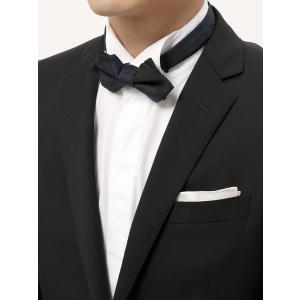 ほんのり起毛感のあるウール100%素材の蝶ネクタイ。MADE IN JAPANならではの丁寧な縫製技...