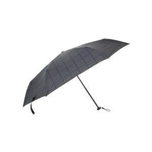グッズ/メンズ/HUS.別注/ Carbon E Slim 55 UVカット折り畳み傘 ブラック×グレー×ブルー/ウインドーペーン|uktsc