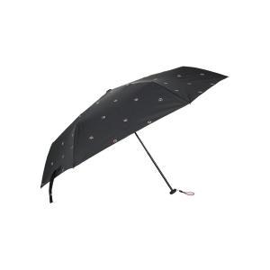 グッズ/メンズ/HUS.別注/ Carbon E Slim 55 UVカット折り畳み傘 ブラック×レッド×ホワイト/紋章|uktsc