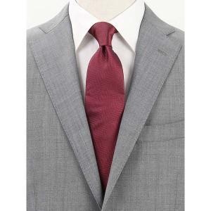 ネクタイ/レギュラータイ/メンズ/Solid Tie's Collection/MELANGE ヘリンボーン柄ネクタイ ボルドー×ネイビー uktsc