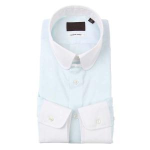 ドレスシャツ/長袖/メンズ/クレリック&ラウンドタブカラードレスシャツ サックスブルー|uktsc
