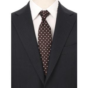 ネクタイ/レギュラータイ/メンズ/ドット柄ネクタイ ブラウン系|uktsc
