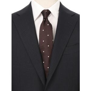 ネクタイ/レギュラータイ/メンズ/ドット×織柄ネクタイ ブラウン系|uktsc