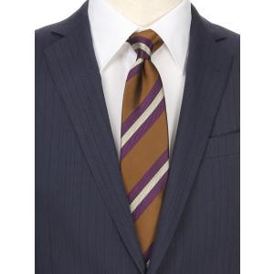 ネクタイ/レギュラータイ/メンズ/ストライプ×ヘリンボーン柄ネクタイ ブラウン系|uktsc