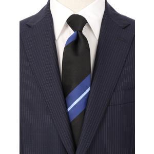 ネクタイ/レギュラータイ/メンズ/ストライプ×織柄ネクタイ ブラック系|uktsc