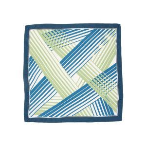 スカーフ/レディース/ジオメトリックプリントプチスカーフ ネイビー×ブルー×グリーン|uktsc