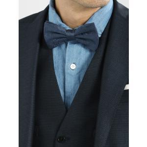 華やかなフォーマルシーンや、お洒落なビジカジスタイルに合わせたい、ペイズリー柄の蝶ネクタイ。生地と同...