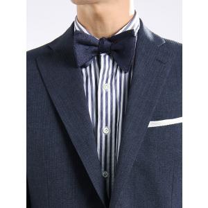 イタリア製の生地を日本で縫製した、ハイグレードな蝶ネクタイ。パーティーシーンに洗練されたムードをもた...