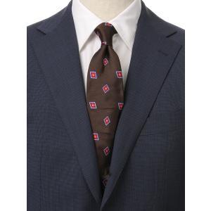 ネクタイ/レギュラータイ/メンズ/小紋×織柄ネクタイ/Fabric by STEPHEN WALTERS/ ブラウン系|uktsc