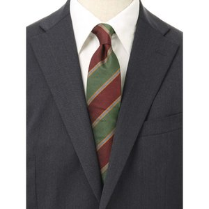 ネクタイ/レギュラータイ/メンズ/ストライプ×織柄ネクタイ/Fabric by STEPHEN WALTERS/ グリーン系|uktsc