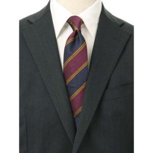 ネクタイ/レギュラータイ/メンズ/ストライプ×織柄ネクタイ/Fabric by STEPHEN WALTERS/ パープル系 uktsc