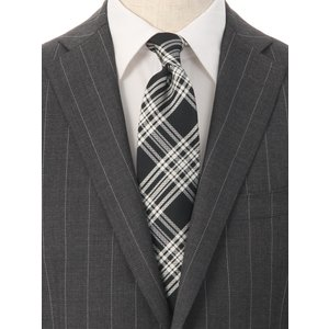 ネクタイ/レギュラータイ/メンズ/チェック柄ネクタイ/Fabric by VANNERS/ ブラック系|uktsc