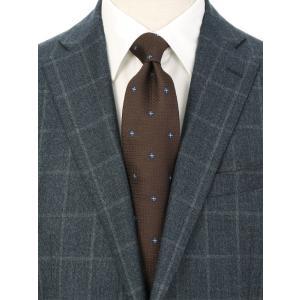 ネクタイ/レギュラータイ/メンズ/小紋×織柄ネクタイ ブラウン系|uktsc