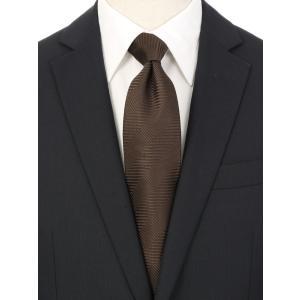 ネクタイ/レギュラータイ/メンズ/シャドーストライプ×織柄ネクタイ ブラウン系|uktsc