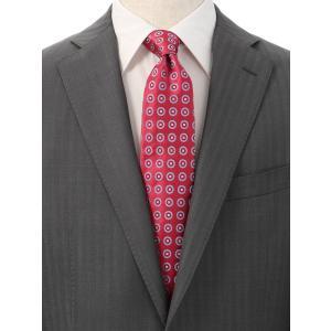 ネクタイ/レギュラータイ/メンズ/小紋柄ネクタイ/Fabric by ITALY/ ピンク系|uktsc