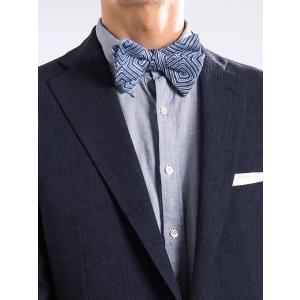 イタリア製の生地を日本で縫製した、ハイグレードな蝶ネクタイ。カジュアルなパーティーシーンに華やぎをプ...