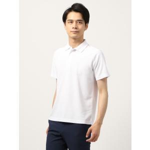 ポロシャツ/メンズ/WE SUIT YOU/鹿の子バーズアイ スポーツポロシャツ ホワイト|uktsc