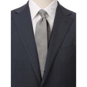 ネクタイ/レギュラータイ/メンズ/グレンチェック×織柄 クレリックネクタイ ブラック系|uktsc